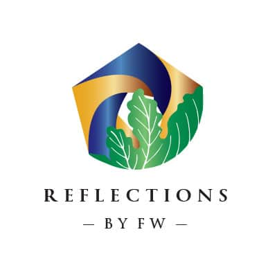 Reflections by FW logo designed by Mark Boehly - Graphicsbyte
