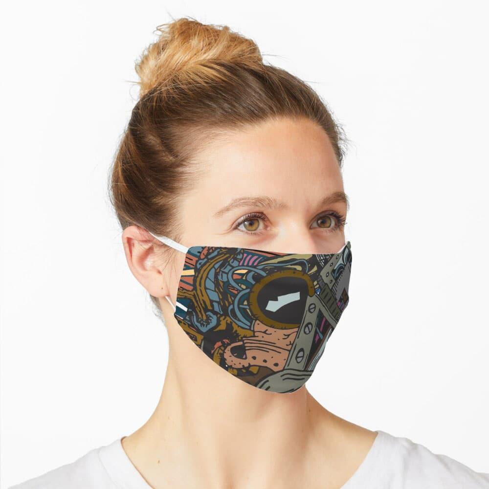 Covid-19 Mask - Biomechanical Disaster designed by Graphicsbyte Creative - Mark Sheldon Boehly