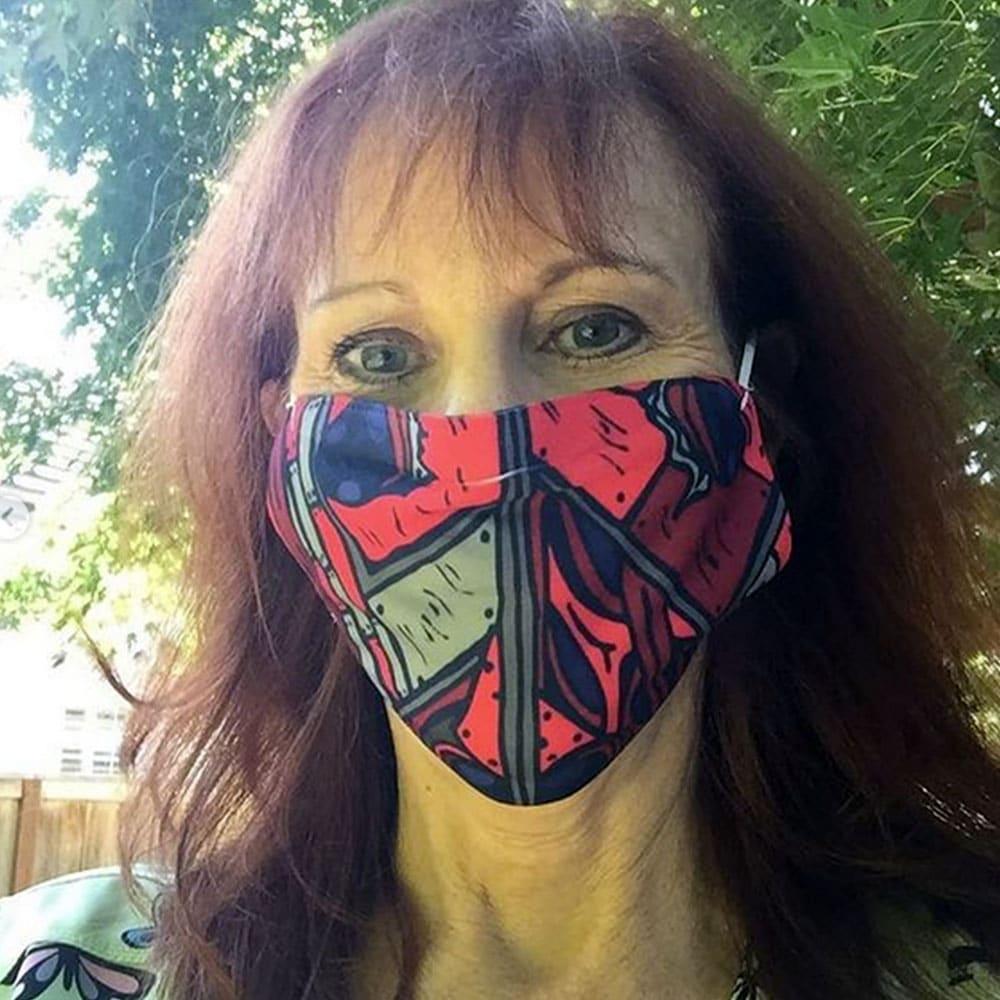 Patricia Boehly Covid-19 Ladybug Mask designed by Mark Sheldon Boehly - Graphicsbyte Creative