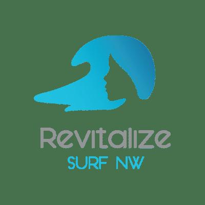 Revitalize Surf NW logo designed by Mark Sheldon Boehly - Graphicsbyte Creative