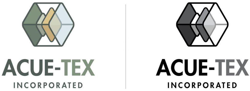 Acue-Tex Inc Logo designed by Mark Sheldon Boehly - Graphicsbyte Creative