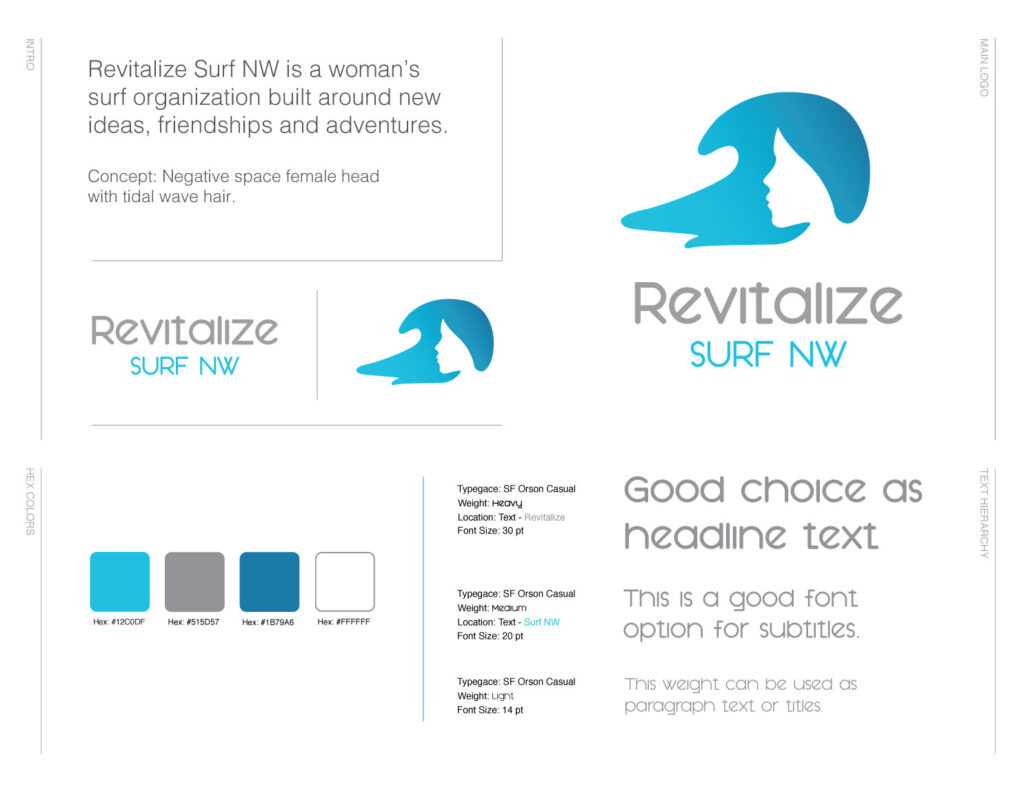 Revitalize Surf NW Logo designed by Mark Sheldon Boehly - Graphicsbyte Creative