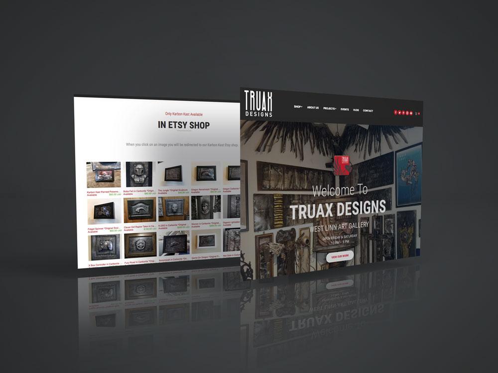 Truax Designs Website designed by Graphicsbyte Creative - Mark Sheldon Boehly