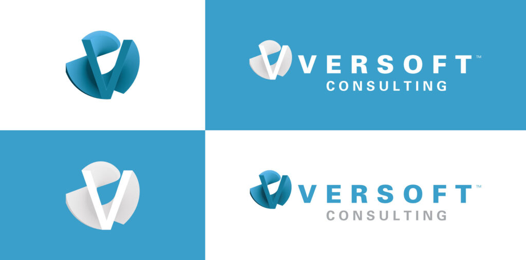 Versoft Consulting Logo designed by Mark Sheldon Boehly - Graphicsbyte Creative
