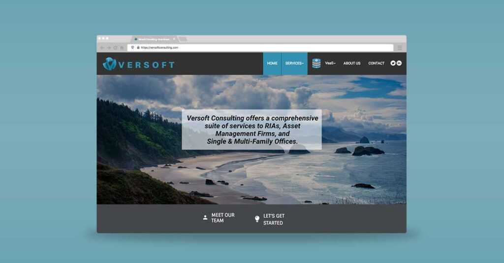 Versoft Homepage website developed by Graphicsbyte Creative - Mark Sheldon Boehly