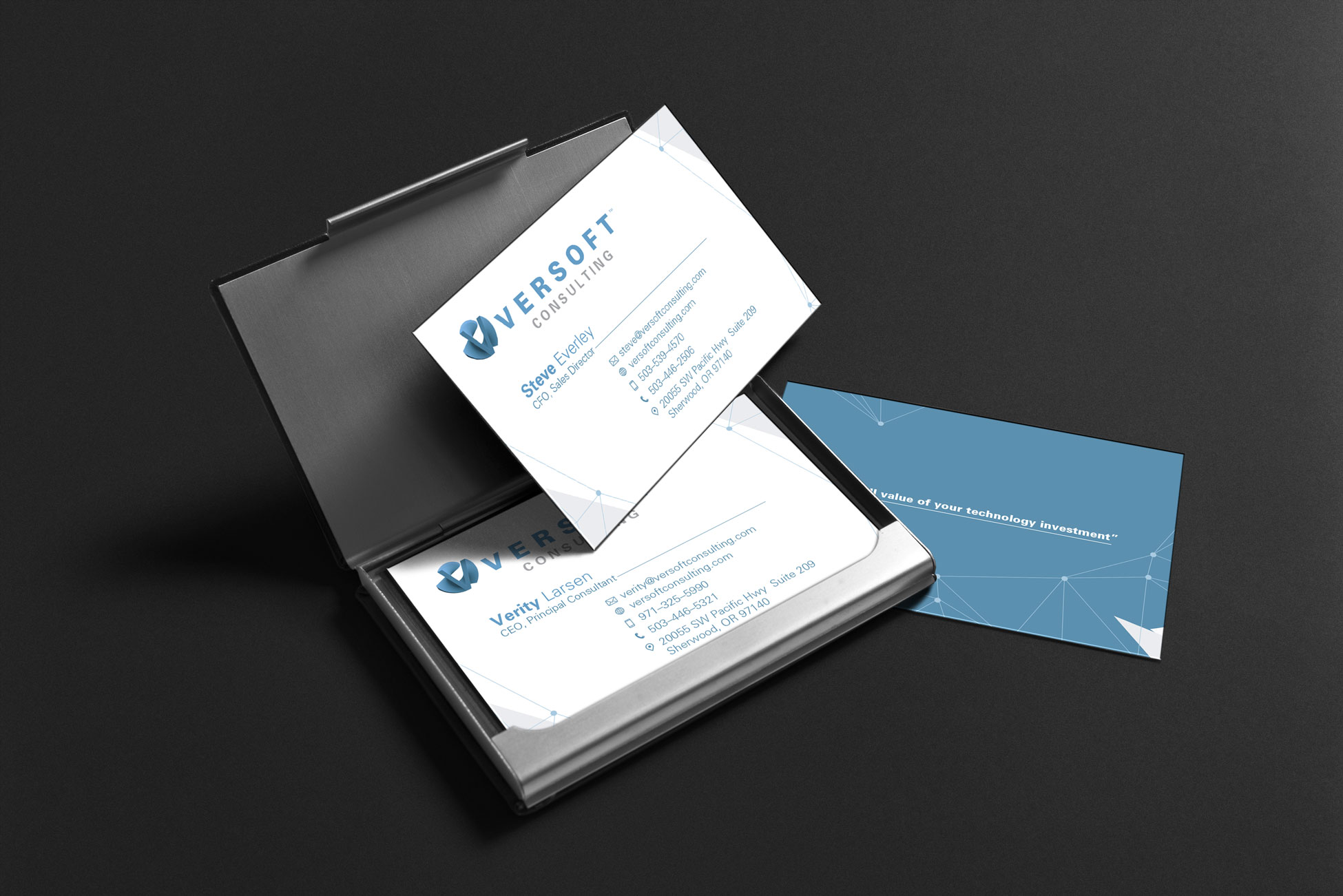 Versoft Consulting Business Cards deigned by Graphicsbyte Creative