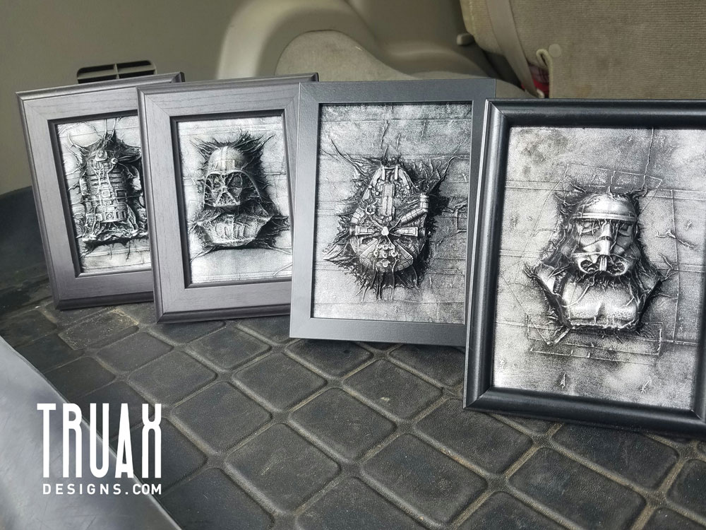 Mini Star Wars Sculptures by Truax Designs & Graphicsbyte Creative
