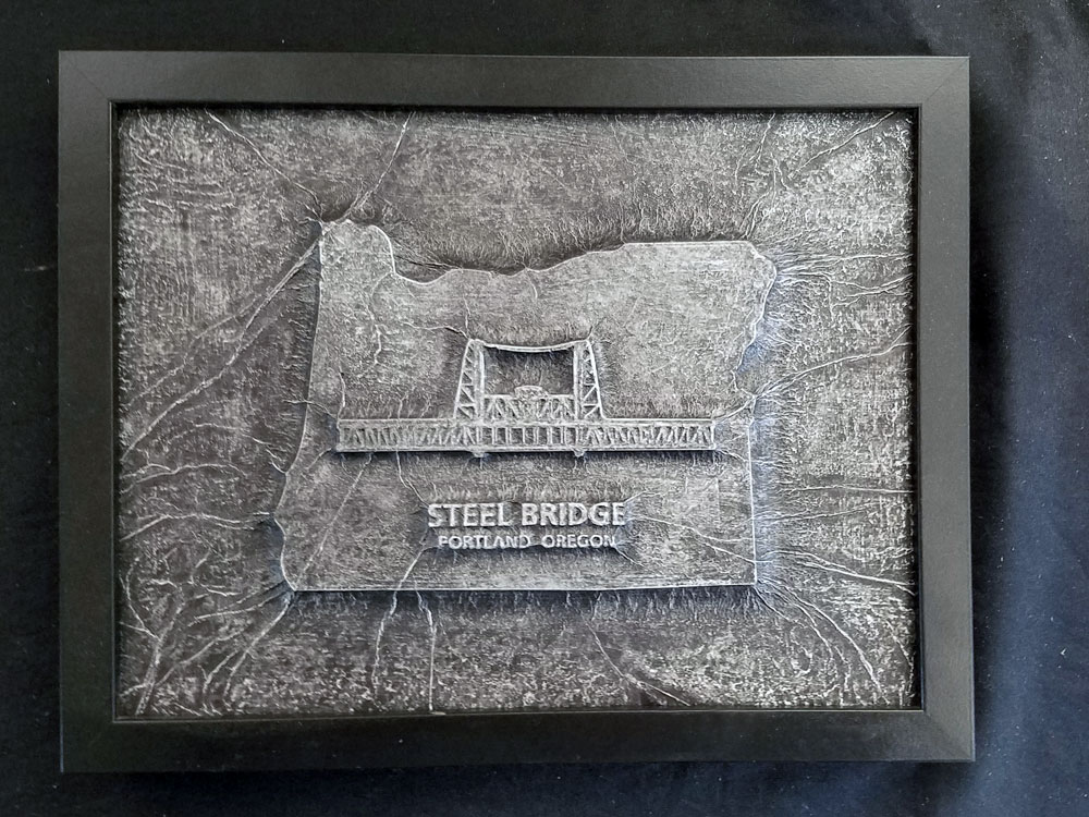 Steel Bridge Portland Oregon Karbon Kast by Truax Designs