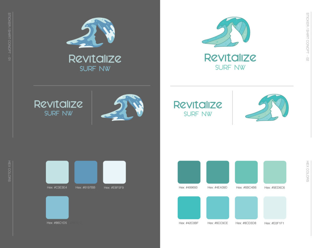 Revitalize Surf NW Alternative Logo designed by Graphicsbyte Creative