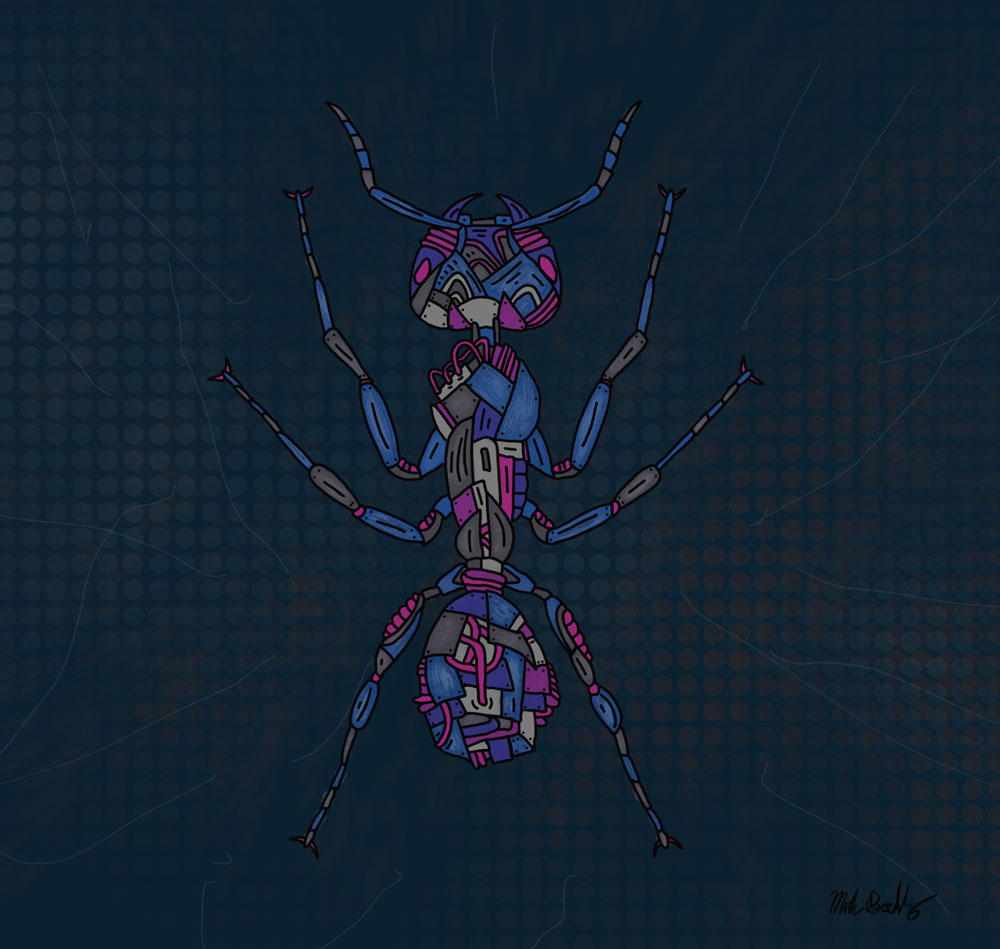 Army Ant - Creature Collection - Illustrated by Mark Sheldon Boehly - Graphicsbyte Creative