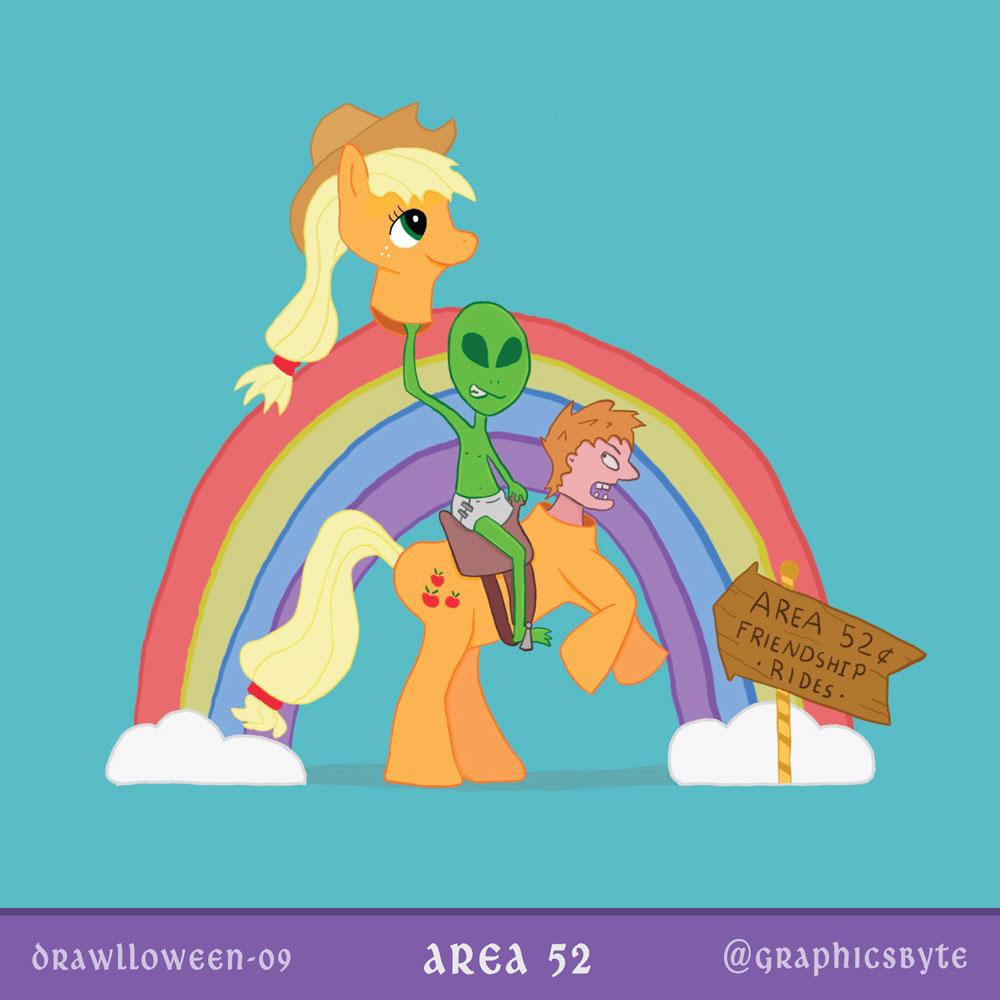 Area 52 Friendship Rides - Illustration by Mark Sheldon Boehly - Graphicsbyte Creative