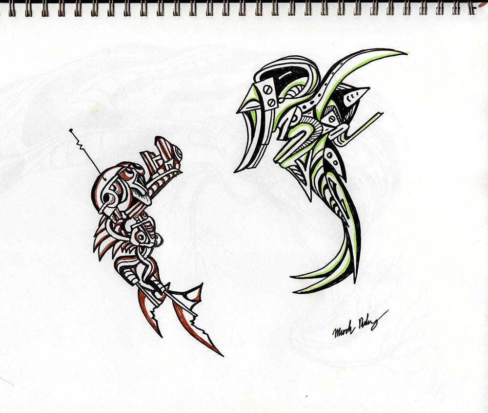 Boss Fight - Illustration by Mark Sheldon Boehly - Graphicsbyte Creative
