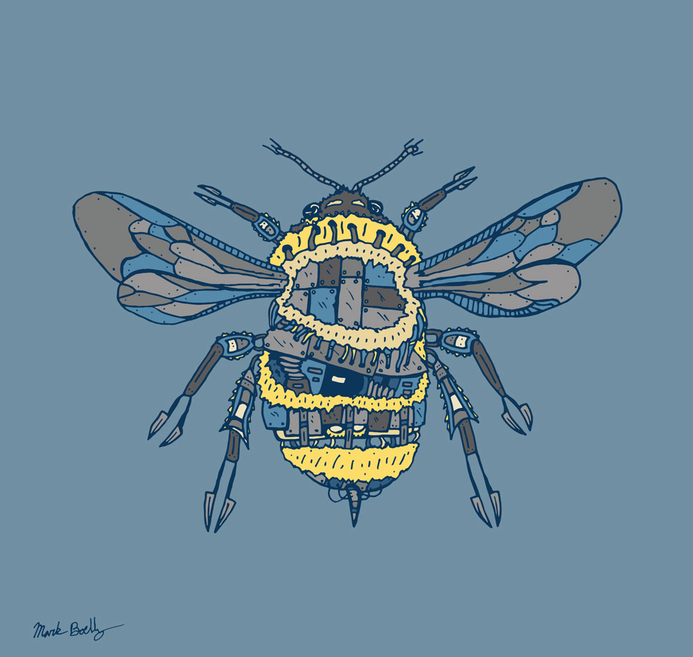 Bumblebee- Creature Collection - Illustrated by Mark Sheldon Boehly - Graphicsbyte Creative