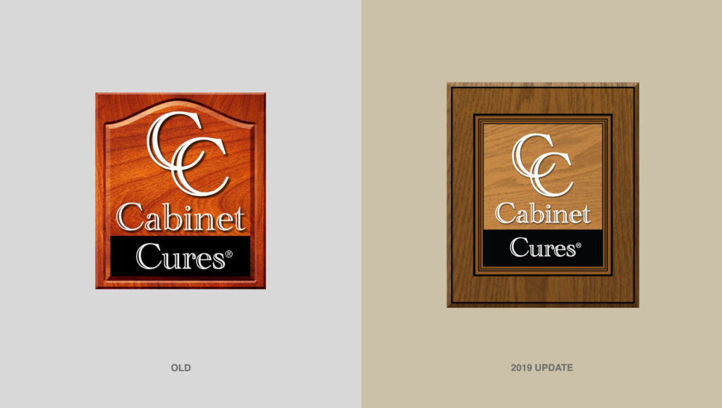 Cabinet Cures Logo Before & After by Graphicsbyte Creative