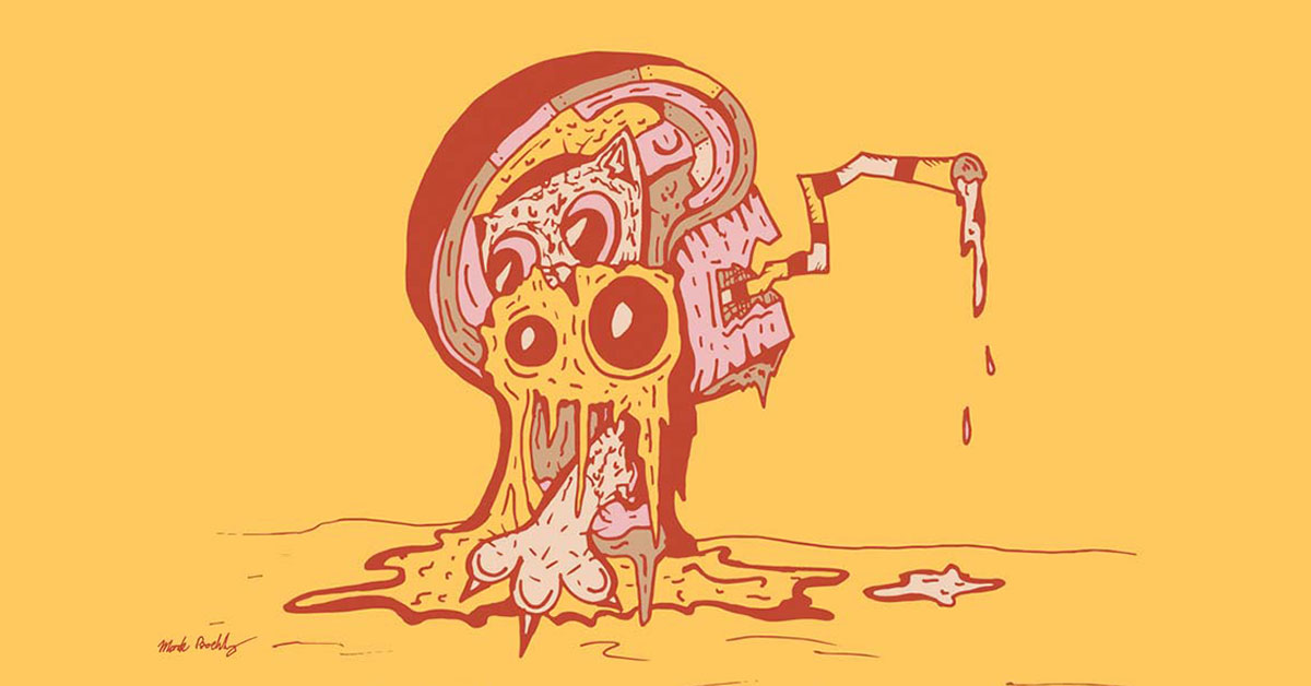 Cat Milkshake- Psychedelic Sci-Fi - Illustrated by Mark Sheldon Boehly - Graphicsbyte Creative
