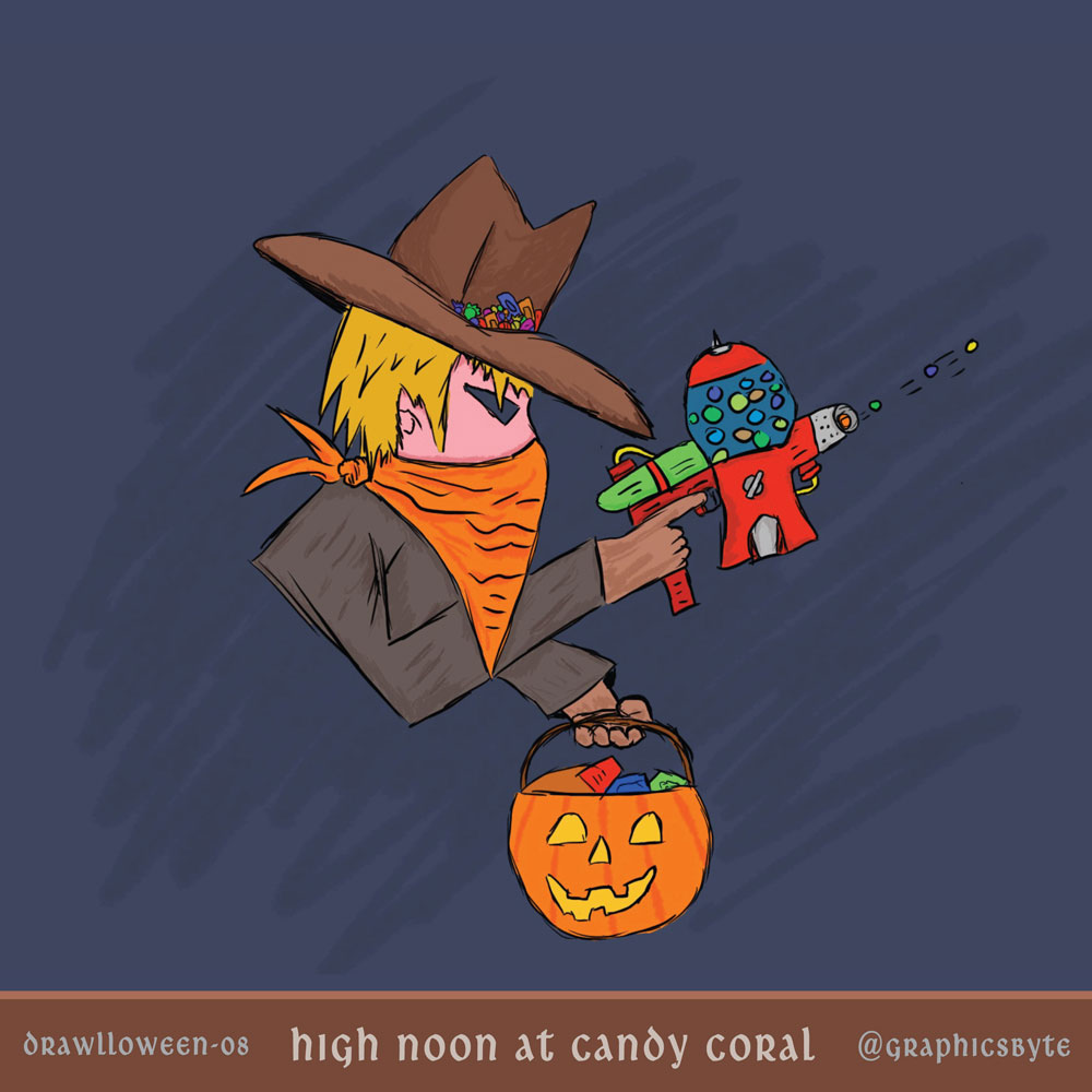 High Noon At Candy Coral - Illustration by Mark Sheldon Boehly - Graphicsbyte Creative