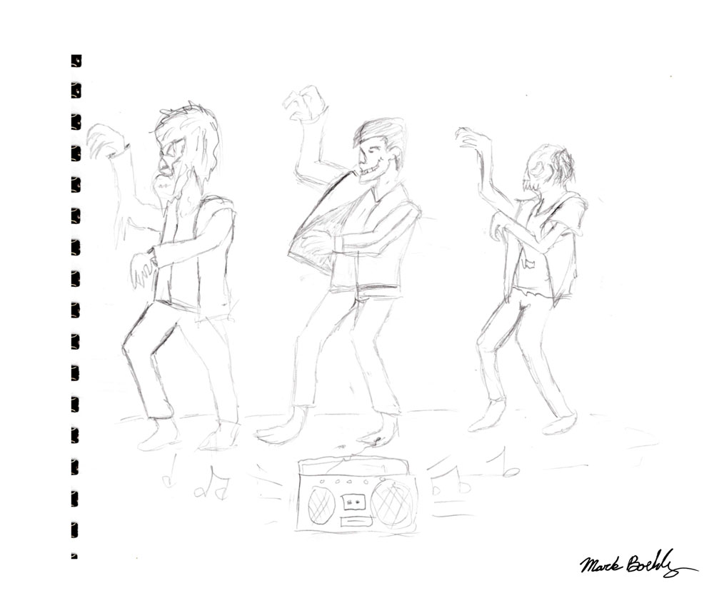 Ghouls Just want to have fun - Sketch by Mark Sheldon Boehly - Graphicsbyte Creative