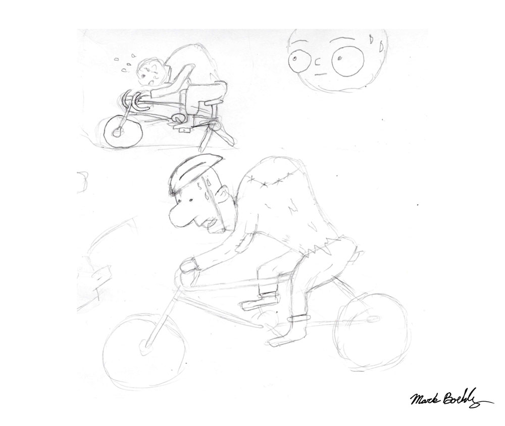Igor's really into fitness lately - Sketch by Mark Sheldon Boehly - Graphicsbyte Creative