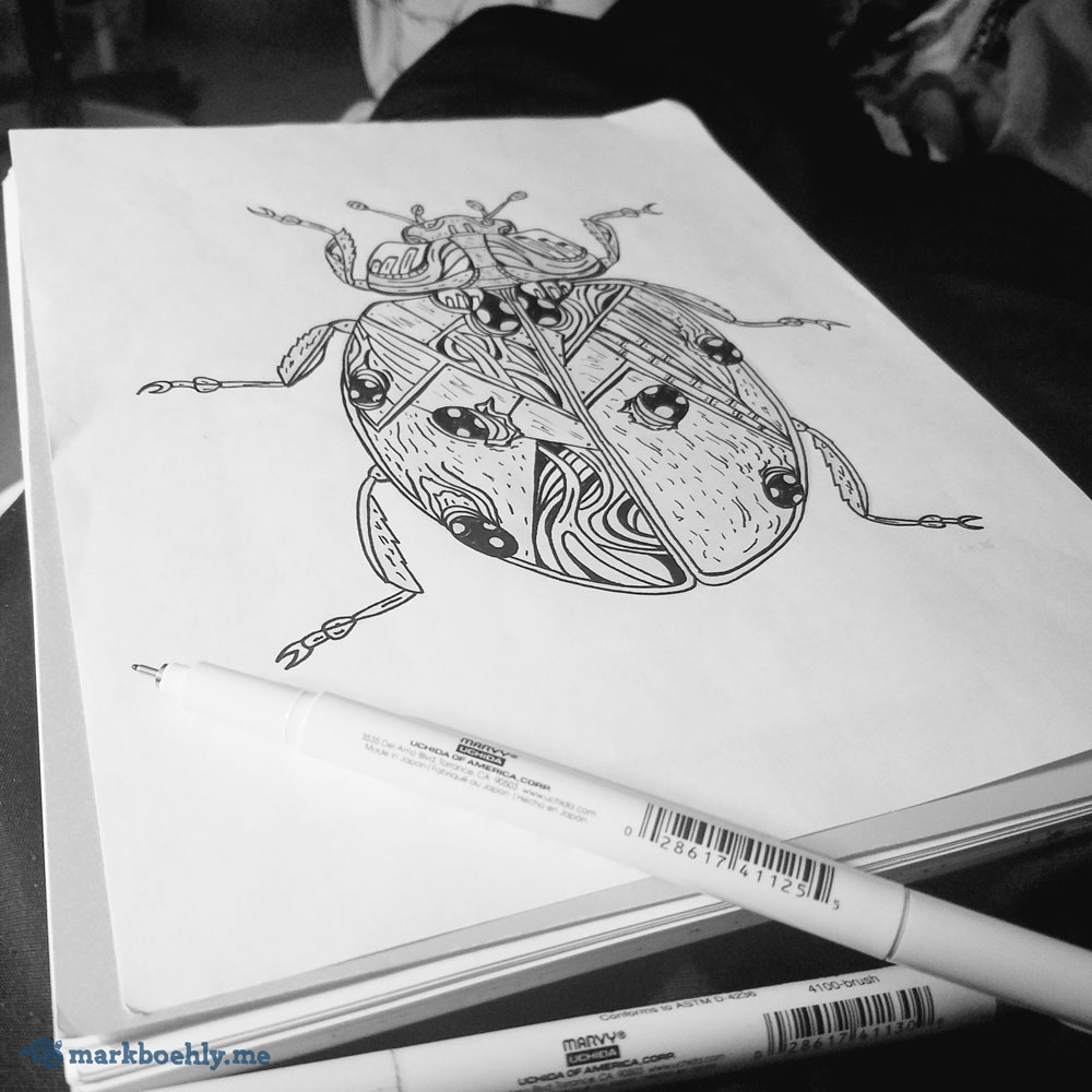 Ladrissa Ladybug sketch Creature Collection by Mark Sheldon Boehly - Graphicsbyte