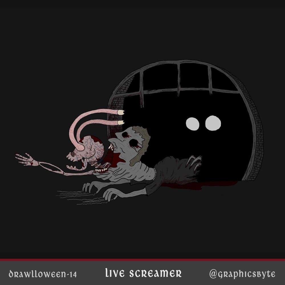 Live Screamer - Illustration by Mark Sheldon Boehly - Graphicsbyte Creative