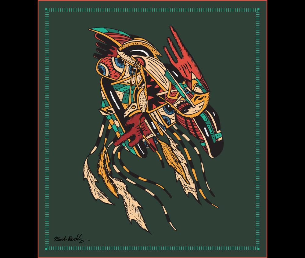 Eva on Acid Parasite - Psychedelic Sci-Fi - Illustrated by Mark Sheldon Boehly - Graphicsbyte Creative