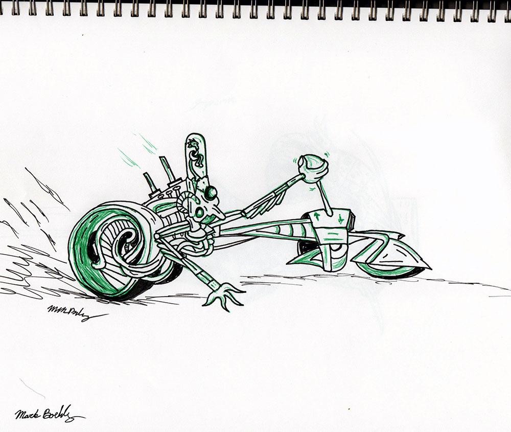 Speeder - Illustrated by Mark Sheldon Boehly - Graphicsbyte Creative