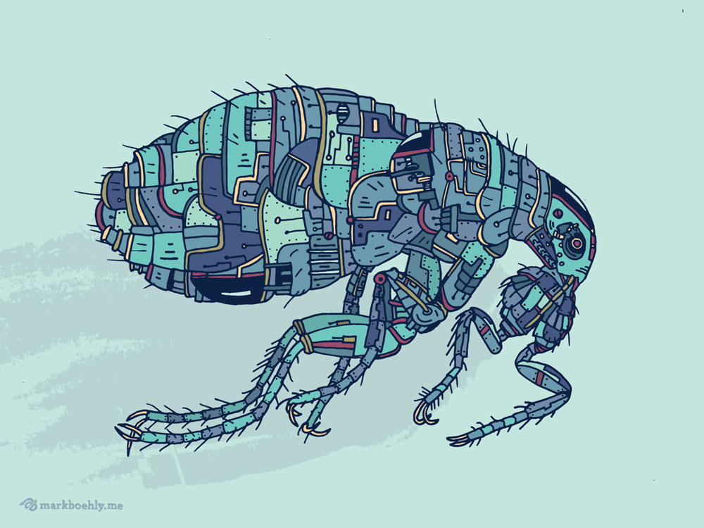 Biomechanical Tick - Creature Collection - Illustrated by Mark Sheldon Boehly - Graphicsbyte Creative