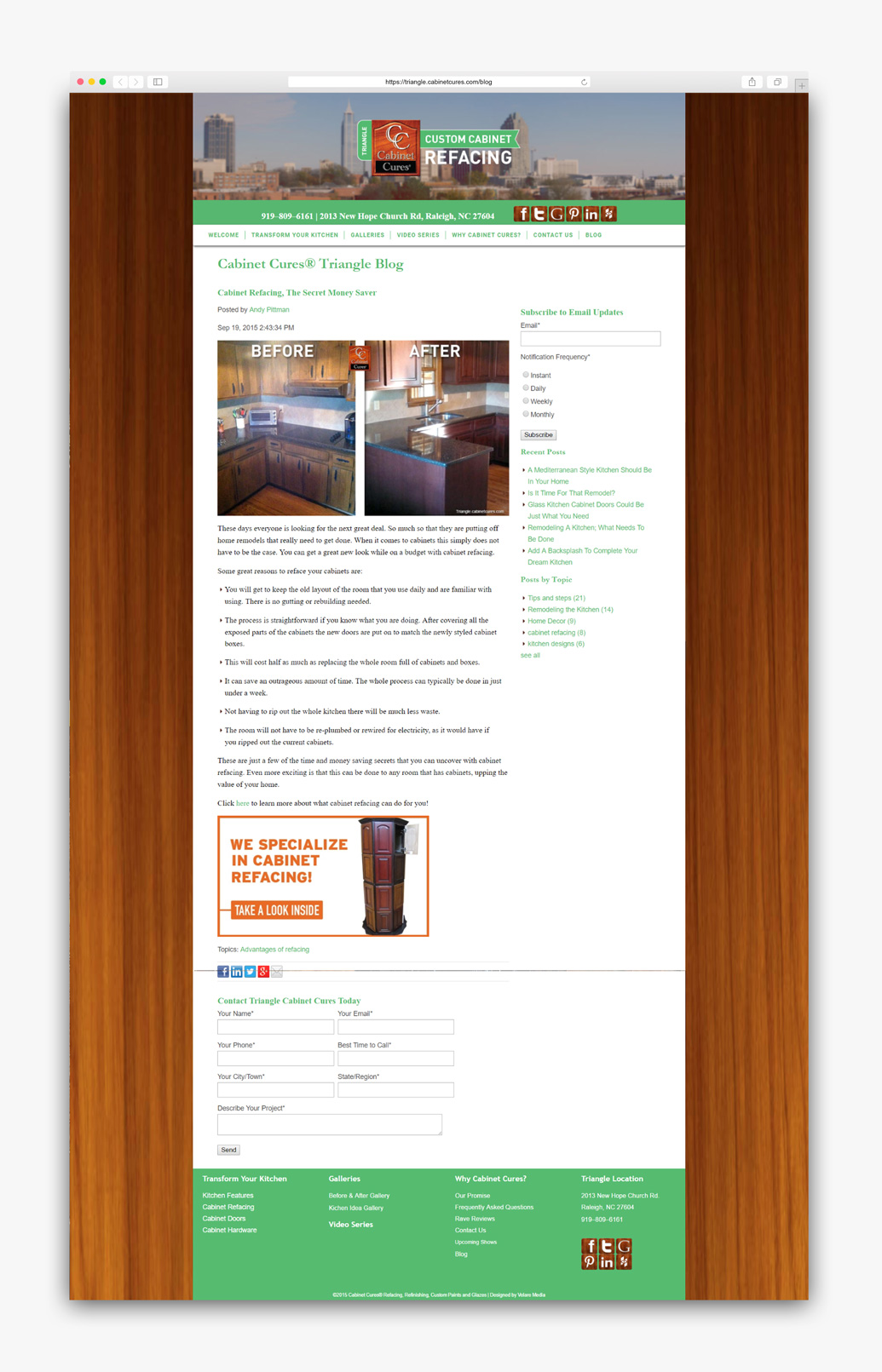 2016 Triangle Cabinet Cures Semi-Wide Hubspot Template designed by Graphicsbyte