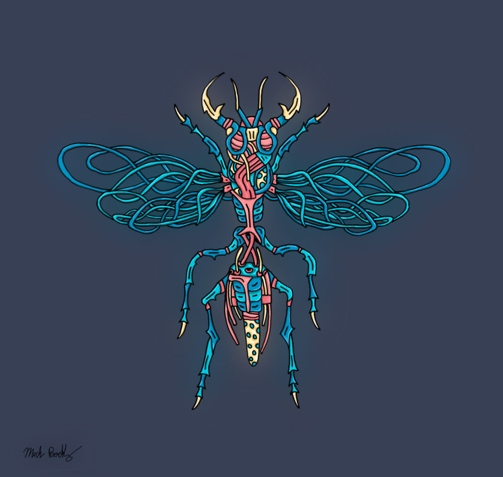 Wasp King - Creature Collection - Illustrated by Mark Sheldon Boehly - Graphicsbyte Creative